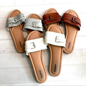 NWT 3 pairs Torrid slide sandals size 10 brown